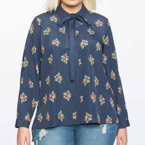 Eloquii Conversational Blouse in Floral